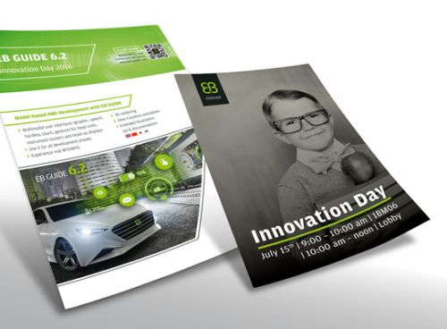 Informative Plakate zum Innovation Day im Juli 2016