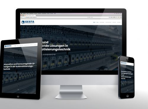 Geradliniges Webdesign in technischer Onepage-Optik
